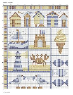 Beside The Seaside (Durene Jones) From Cross Stitch Gold N°130 July 2016 3 of 5
