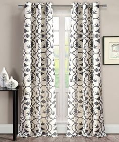Dark Gray Dawn Victoria Curtains Set Of Two Grommet D Curtain