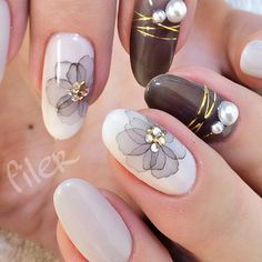 110 Acrylic Short Nail Design Ideas for Girls in Love - How Lives - Part 73 Every modern girls in love are fascinated with short acrylic nails. We have found 110 short nail art design ideas. Take a glance to find your favourite. Acrylic Nail Designs, Acrylic Nails, Nail Art Designs, Coffin Nails, Cute Nails, Pretty Nails, My Nails, Asian Nails, Water Color Nails