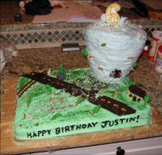 Making a tornado cake