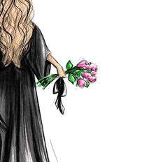 Scroll and Roses - Customizable Graduation Gift Fashion Illustration Art Print - Graduation pictures,high school Graduation,Graduation party ideas,Graduation balloons Graduation Picture Poses, Graduation Pictures, Graduation Gifts, Graduation Outfits, Graduation Ideas, Graduation Drawing, Gown Drawing, Wedding Dress Sketches, Girly Drawings