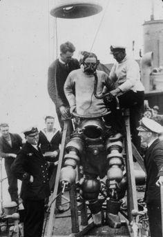 Preparing to explore the wreck of the Lusitania | Retronaut