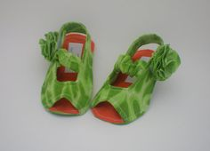 Green Baby Sandals on Etsy, $15.00