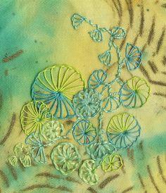Buttonhole Wheels by Fiberdabbler, via Flickr