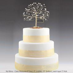Personalized 50th Anniversary Cake Topper Tree Gift by byapryl