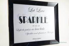 Let love Sparkle Sign Sparkler send off sign by Wedsclusive, $8.00