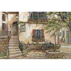 """East Urban Home 'La Maison Du Vin' Painting Print on Canvas Size: 18"""" H x 26"""" W x 0.75"""" D"""