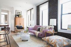 HGTV Fresh Faces of Design - Big City Digs: Urban Home With Brick Walls by Justin DiPiero >> http://www.hgtv.com/design/fresh-faces-of-design/2015/big-city-digs?soc=pinterest