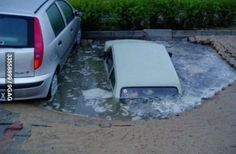 Unlucky parking spot, this would happen to me