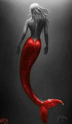 Drawing Mermaid Tails How Mermaid Artwork, Mermaid Drawings, Mermaid Tattoos, Art Drawings, Mermaid Paintings, Fantasy Mermaids, Real Mermaids, Mermaids And Mermen, Mermaid Fairy