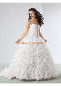 2013 Dramatische elegante Brautkleider aus Taft und Tüll Ballkleid Ruffle auf Rock