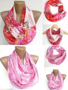 trendscarf  2 women infinity scarf loop scarf Tube by seno on Etsy, $36.00