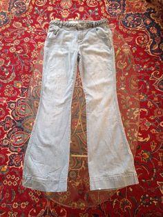 PILCRO & THE LETTERPRESS Anthropologie Light Wash Womens Denim Jeans Sz 31 #PilcrotheLetterpress #BellBottom #pilcro #braided #denim #anthropologie