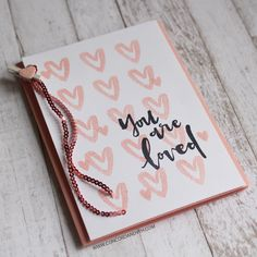 You Are Enough stamp set & 3mm Blush sequins by Concord & 9th
