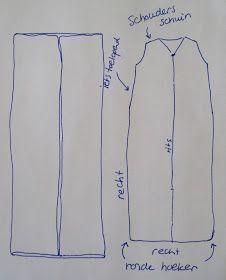 zomer hitte baby slapen slaapzak dunne katoen zelf maken naaien patroon werkwijze instructie voorbeeld uitleg