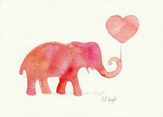 Watercolor Elephants from Grow Creative