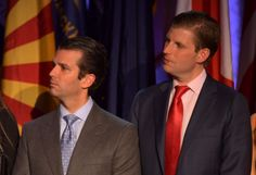 Trump's transition team issued a statement denying that the president-elect's sons Eric Trump (R) and Donald Trump Jr. were behind a fundraising event planned after inauguration day