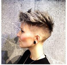 Short Hair Shaved Sides, Short Hair Cuts, Short Hair Styles, Shaved Pixie Cut, Short Pixie, Androgynous Hair, Edgy Hair, Funky Hair, Short Hair Undercut