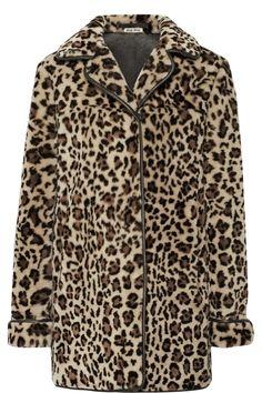 Miu Miu|Leopard-print shearling coat|NET-A-PORTER.COM