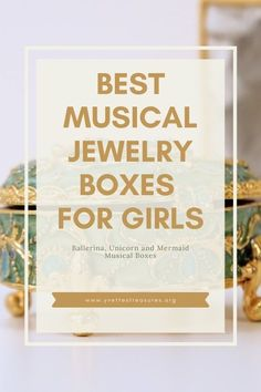 Best Musical Jewelry Boxes for little girls. Beautiful ballerina musical jewelry boxes perfect for a girl's bedroom. Cute and pretty designs, come and see for yourself today! #jewelryboxideas #giftsforgirls #kidsgiftideas Unique Gifts For Kids, Great Gifts For Mom, Unique Christmas Gifts, Christmas Gift Guide, Christmas Toys, Gifts For Girls, Music Box Ballerina, Ballerina Jewelry Box, Girls Jewelry Box