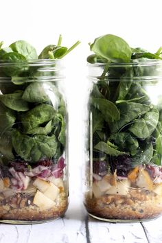 pear quinoa spinach salad