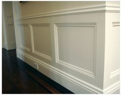 Inset frame wainscoting