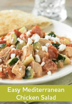 This Easy Mediterranean Chicken Salad recipe is beyond simple to make in just 20 minutes.