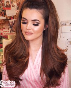 """""""Another Stunning Peaches Makeover from tonights Hair & Makeup MasterClass! For this look i used: - Peaches Pigments Halo ( on the eyelid, brow bone and as…"""" Teased Hair, Voluminous Hair, Bouffant Hair, Party Hairstyles, Vintage Hairstyles, 70s Hairstyles, Makeup Masterclass, 1960s Hair, Glam Hair"""