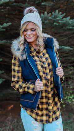 Aspen Heights Vest and Farmers Market Top in yellow from UOI Boutique