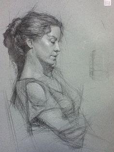 Portrait Drawing | Daniel Bilmes | Los Angeles Academy of Figurative Art | Art Classes | Fine | Entertainment | Online