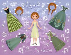 Disney's Frozen Printable Paper Dolls Frozen Disney, Anna Frozen, Disney Bound, Frozen Paper Dolls, Disney Paper Dolls, Paper Toys, Paper Crafts, Imprimibles Toy Story Gratis, Paper Dolls Printable