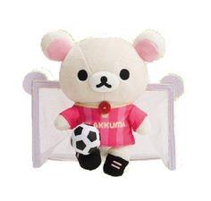 New! Korilakkuma Soccer Football Rilakkuma Plush Doll Stuffed San-X Japan F/S #SanX