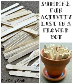 Need a summer activity list for your kids? I've got 65 easy ideas that don't need too much prep, stored in a cute flower pot.