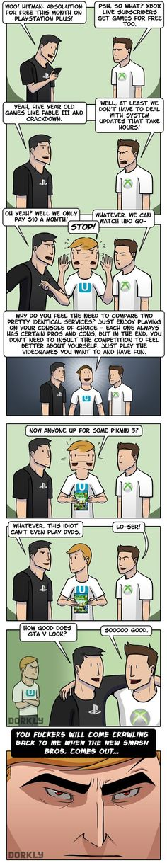 Haha!~How Every Argument About Xbox and PlayStation Ends