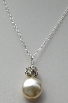Louise - Coin Pearl Necklace by TrinketsByThandeka on Etsy