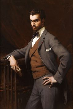 James Hazen Hyde - millionaire playboy, Francophile, and instigator of a Wall Street panic. Painted by Théobald Chartran, 1901