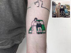 Com três meses trabalhando na área depois formado em fotografia, o turco Alican Gorgu, ou PigmentNinja, percebeuque fotografar nãoera o que ele queria fazer. Partiu, então, para um emprego administrativo num estúdio de tatuagem e percebeu que era ali que queria trabalhar. Mas com a máquina na mão. Fanático por filmes, o tatuador, que vive em Istambul, começou a tatuar imagens minimalistas baseadas em cenas das películas favoritas de seus clientes. Um dia, ao esboçar uma tattoo inspirada…