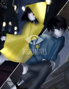"Six and Runaway Kid form ""Little Nightmares"" I really loved this game So mindblowing and amazing story game. Little Nightmares Little Nightmares Fanart, Runaway Kids, Sailor Moon Girls, Stray Dogs Anime, Minecraft Birthday Party, Rpg Horror Games, Bad Dreams, Video Game Characters, Manga Games"