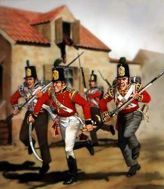 British infantry at Salamanca- by Bill Younghusband
