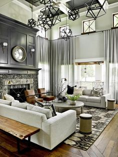 15 Wonderful Transitional Living Room Designs To Refresh Your Home With - Transitional Decor - Curtain Living Room Decor Modern, Transitional Living Rooms, Farm House Living Room, Living Room Interior, Transitional Decor Living Room, Transitional House, Elegant Living Room, Living Decor, House Interior