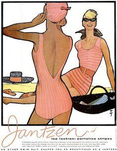 Jantzen advertisement illustrated by Renè Gruau, 1958 | Flickr