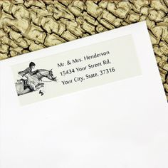 Hunter Pony Return Address Labels - hunter jumper equestrian stationery for the horse lover. classy and stylish for all your mail.