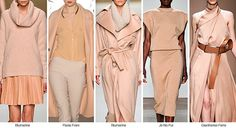 F/W TRENDS. FASHION SNOOPS Warm casts of peachy nude move forward from last season, becoming an easy-to-wear soft neutral. 2015 Color Trends, 2014 Fashion Trends, 2014 Trends, Fashion Colours, Colorful Fashion, Fall Winter 2014, Autumn Winter Fashion, Fall Fashion, Nude Outfits