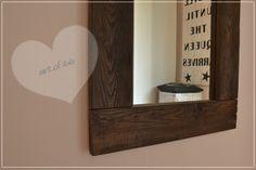 Spiegel aus Paletten - mirror from pallets