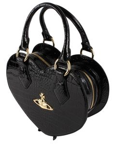 Womens Bags | Vivienne Westwood New Chancery Heart Bag - Black | KJ Beckett - Breath Taking Bags By Vivienne Westwood! Spoil The Special Woman in Your Life!