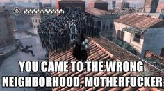 Assassins creed funny - Google Search. << This seriously happened to me once and it was hilariously scary XD
