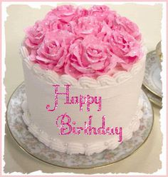 Best Happy Birthday GIF Images and Pictures - 9 Happy Birthday Happy Birthday Cake Pictures, Pink Happy Birthday, Happy Birthday Messages, Happy Birthday Quotes, Happy Birthday Greetings, Diy Birthday Gifts For Him, Birthday Blessings, Pokemon Birthday, Pretty Cakes