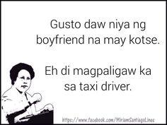 Tagalog Quotes Funny, Tagalog Quotes Hugot Funny, Pinoy Quotes, Jokes Quotes, Filipino Quotes, Filipino Funny, Funny Hugot Lines, Hugot Lines Tagalog Love, Patama Quotes