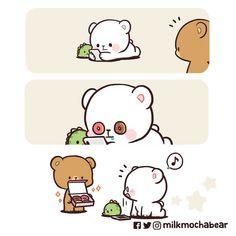 Cute Love Pictures, Cute Love Gif, Cute Images, Walle Y Eva, Cute Emoji Combinations, Bear Gif, Cute Bear Drawings, Cartoon Drawings, Cute Cartoon Pictures