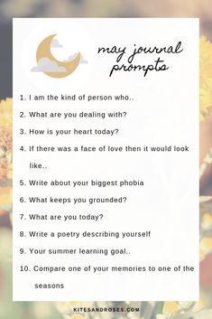 60 Self Discovery Journal Prompts – Kites and Roses – Best Journaling Prompts for Self-Reflection and Self-Discovery